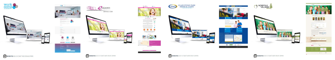 Website designs for Professional services such as dentists, doctors, lawyers