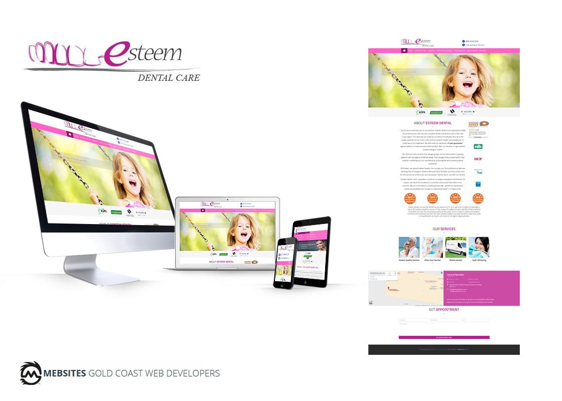 Esteem Dental Care - Website Design - Ghost blogger Platform in Node.js