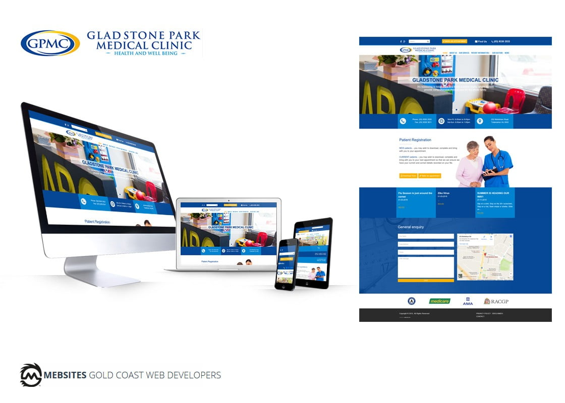 GladStone Park Medical Clinic Website Design - Wordpress
