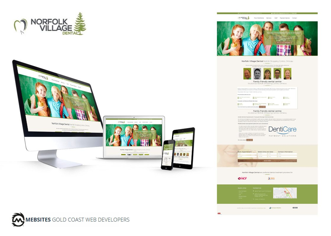 Norfolk Village Dental -  Designed for Flat PHP Website
