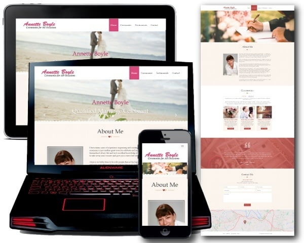 Wedding Website Design - Wordpress